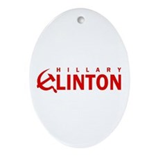 Anti-Hillary Clinton Oval Ornament