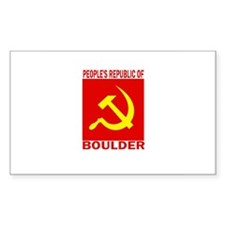 People's Republic of Boulder Rectangle Decal