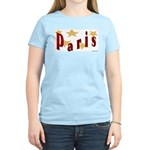 Paris Women's Pink T-Shirt