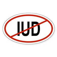 IUD Oval Decal
