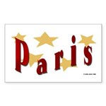 Simple | Paris | Travel Rectangle Sticker