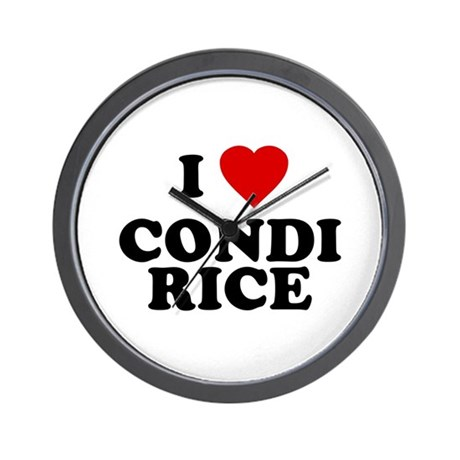 I love [heart] Condi Rice Wall Clock