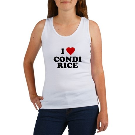 I love [heart] Condi Rice Womens Tank Top