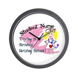 Cool Student nurse Wall Clock
