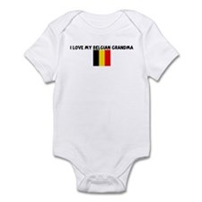 I LOVE MY BELGIAN GRANDMA Infant Bodysuit