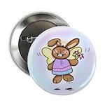 Angel Bunny Button