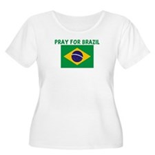 PRAY FOR BRAZIL Women's Plus Size Scoop Neck T-Shi