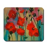 Unique Painting of poppies Mousepad
