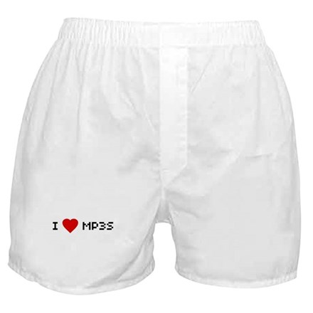 I [heart] MP3s Boxer Shorts
