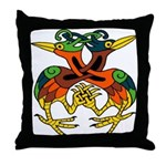 Celtic Lovebirds Throw Pillow