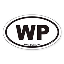 White Plains New York WP Euro Oval Decal