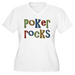 Poker Rocks Cards Texas Holdem Women's Plus Size V