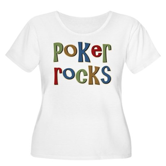 Poker Rocks Cards Texas Holdem Women's Plus Size S
