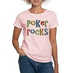 Poker Rocks Cards Texas Holdem Women's Light T-Shi