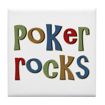 Poker Rocks Cards Texas Holdem Tile Coaster