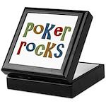 Poker Rocks Cards Texas Holdem Keepsake Box