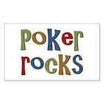 Poker Rocks Cards Texas Holdem Sticker (Rectangula
