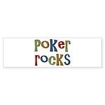 Poker Rocks Cards Texas Holdem Bumper Sticker