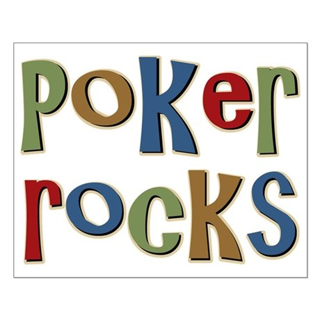 Poker Rocks Cards Texas Holdem Small Poster