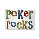 Poker Rocks Cards Texas Holdem Rectangle Magnet (1
