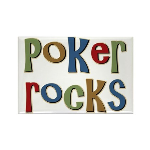 Poker Rocks Cards Texas Holdem Rectangle Magnet