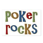 Poker Rocks Cards Texas Holdem Postcards (Package