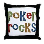 Poker Rocks Cards Texas Holdem Throw Pillow
