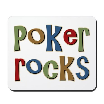 Poker Rocks Cards Texas Holdem Mousepad