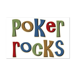 Poker Rocks Cards Texas Holdem Mini Poster Print