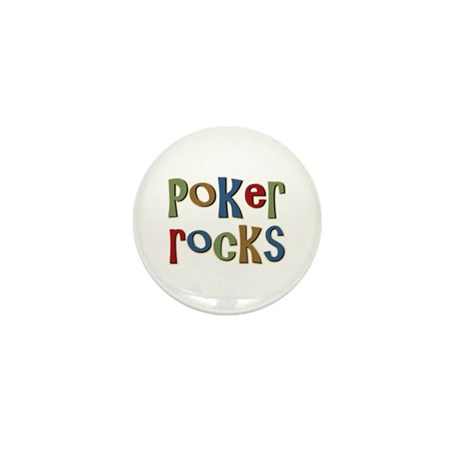 Poker Rocks Cards Texas Holdem Mini Button (10 pac