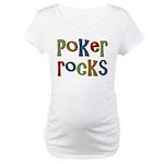 Poker Rocks Cards Texas Holdem Maternity T-Shirt