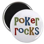 "Poker Rocks Cards Texas Holdem 2.25"" Magnet (10 pa"