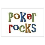 Poker Rocks Cards Texas Holdem Large Poster
