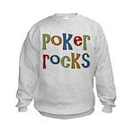 Poker Rocks Cards Texas Holdem Kids Sweatshirt
