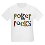 Poker Rocks Cards Texas Holdem Kids Light T-Shirt