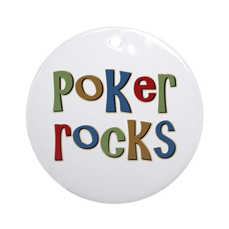 Poker Rocks Cards Texas Holdem Ornament (Round)