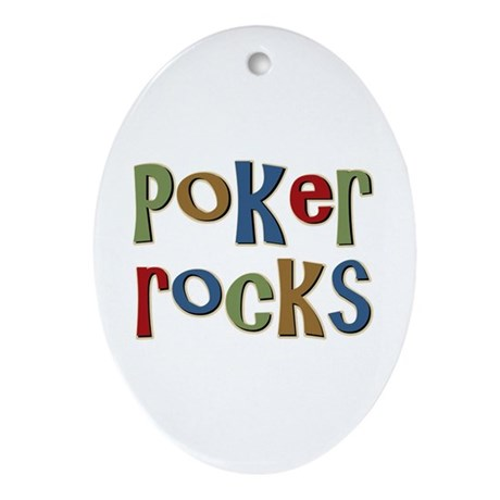 Poker Rocks Cards Texas Holdem Oval Ornament
