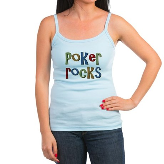 Poker Rocks Cards Texas Holdem Jr. Spaghetti Tank