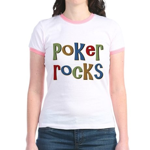 Poker Rocks Cards Texas Holdem Jr. Ringer T-Shirt