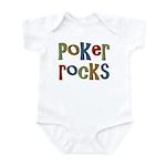Poker Rocks Cards Texas Holdem Infant Bodysuit
