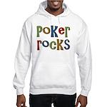 Poker Rocks Cards Texas Holdem Hooded Sweatshirt