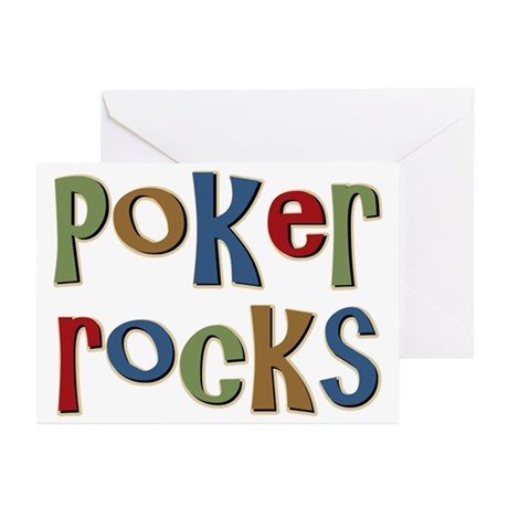 Poker Rocks Cards Texas Holdem Greeting Cards (Pk