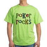 Poker Rocks Cards Texas Holdem Green T-Shirt