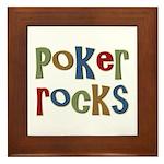 Poker Rocks Cards Texas Holdem Framed Tile