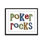 Poker Rocks Cards Texas Holdem Framed Panel Print