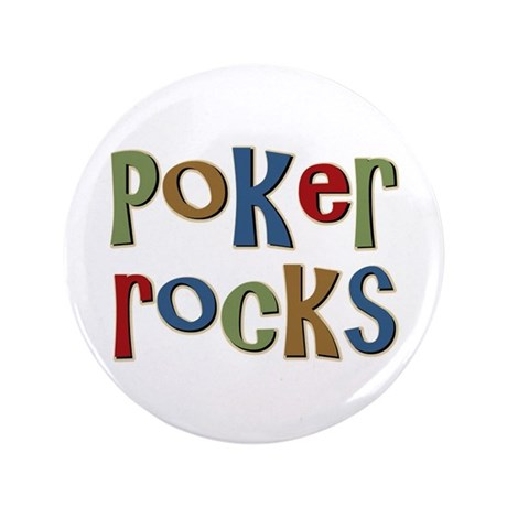"Poker Rocks Cards Texas Holdem 3.5"" Button (100 pa"