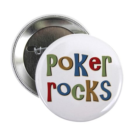 "Poker Rocks Cards Texas Holdem 2.25"" Button"