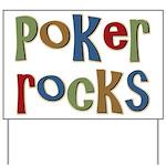Poker Rocks Cards Texas Holdem Yard Sign