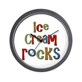 Ice Cream Frozen Dessert Lover Wall Clock
