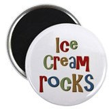 "Ice Cream Frozen Dessert Lover 2.25"" Magnet (10 pa"